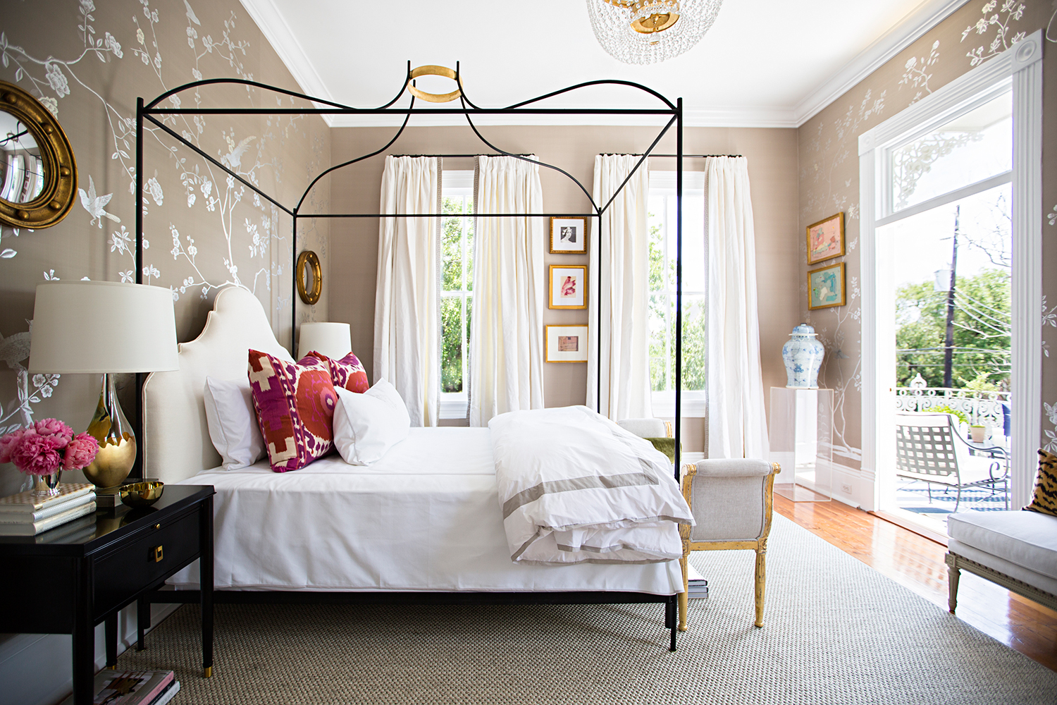 Traditional home southern style now showhouse in new - New orleans style bedroom decorating ideas ...